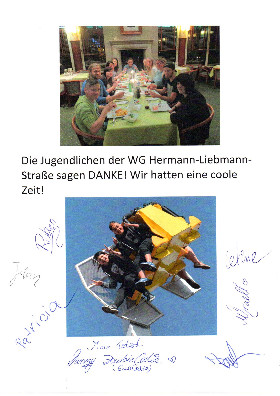 Dank der Outlaw-WG in der Hermann-Liebmann-Straße für Ferienfahrt