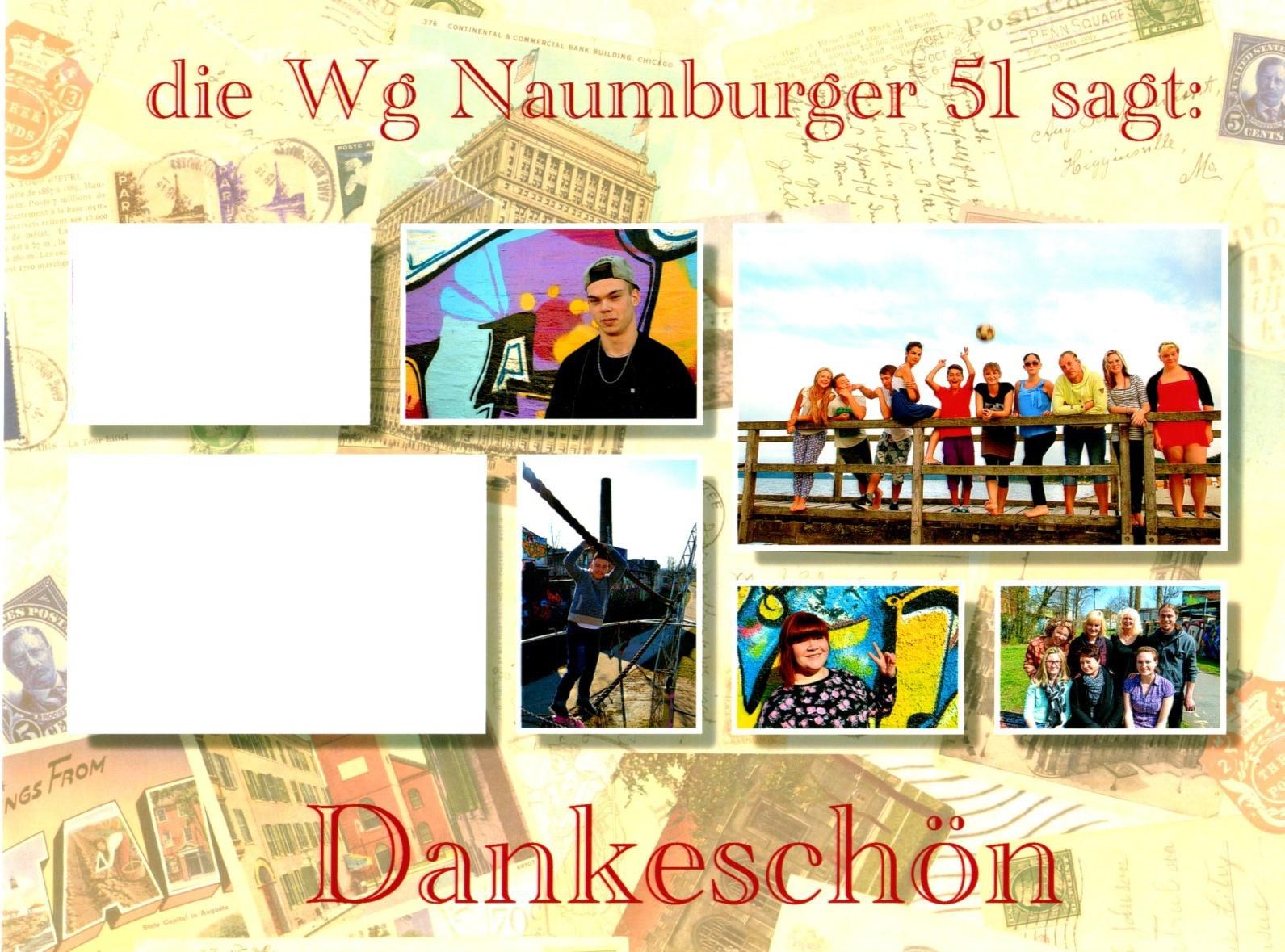 Die WG Naumburger 51 bedankt sich