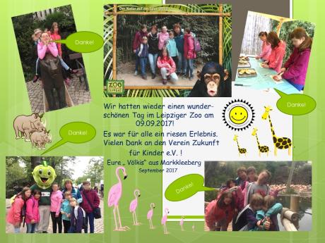 Danksagung Kinder- und Jugendheim Völkerfreundschaft