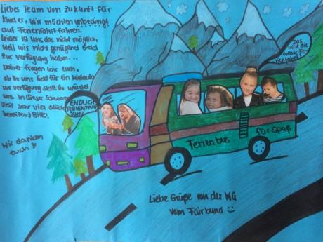 Sobald es die Corona-Pandemie wieder zulässt, können die Kids dieser WG zur Ferienfahrt aufbrechen. Zukunft für Kinder e.V. übernimmt die kosten des Kleinbusses von 800,- €